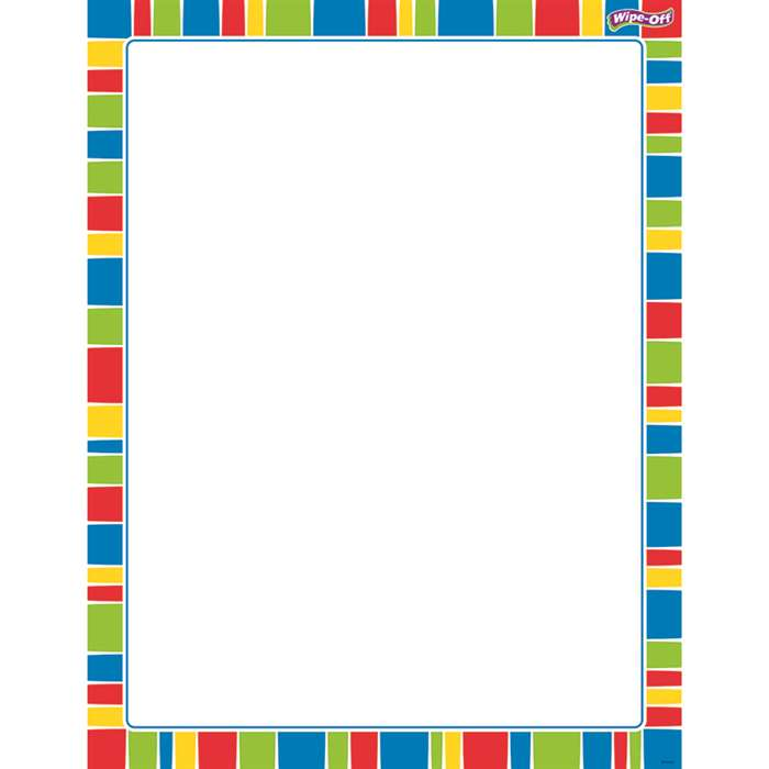 Stripe-Tacular Cheerful Wipe Off Chart, T-27344