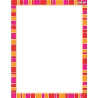 Stripe-Tacular Snazzy Red Wipe Off Chart, T-27346