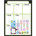 Black Weekly Calendar Kit Wipe-Off Off Charts & Maps By Trend Enterprises