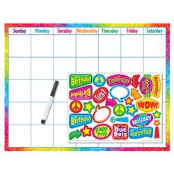 Colorful Brush Strokes Calendar Wipe Off Kit By Trend Enterprises