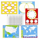 Wipe Off Charts & Maps Combo Pack By Trend Enterprises