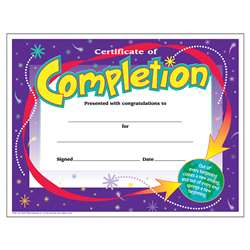 Certificate Of Completion By Trend Enterprises