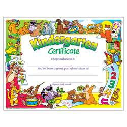 Certificate Kindergarten 30/Pk 8-1/2 X 11 By Trend Enterprises