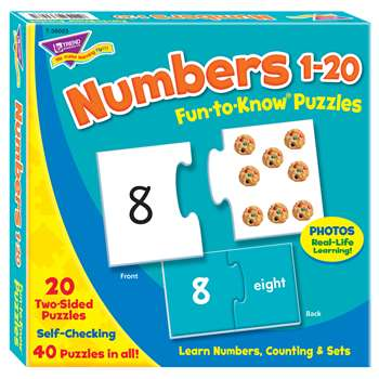 Puzzle Numbers 1 20 By Trend Enterprises