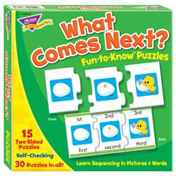 What Comes Next Sequencing Puz Fun- To-Know Puzzles By Trend Enterprises