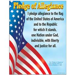 Chart Pledge Of Allegiance Gr K-3 17 X 22 By Trend Enterprises