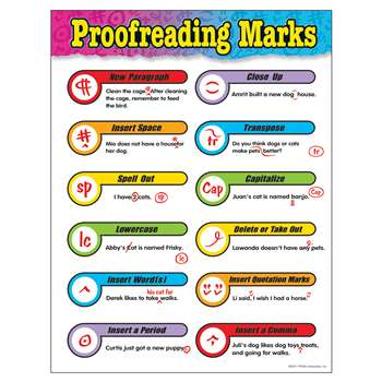 Chart Proofreading Marks Gr 3-6 17 X 22 By Trend Enterprises