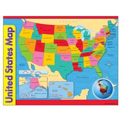 Chart Usa Map 17 X 22 Gr 1-8 By Trend Enterprises