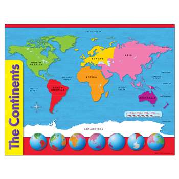 Chart The Continents By Trend Enterprises