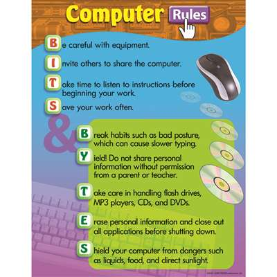 Chart Computer Rules By Trend Enterprises