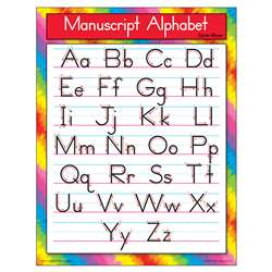 Chart Manuscript Alphabet Zanerbloser By Trend Enterprises