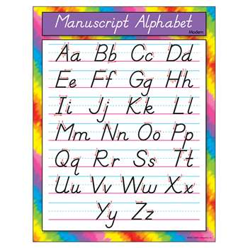 Chart Manuscript Alphabet Modern By Trend Enterprises