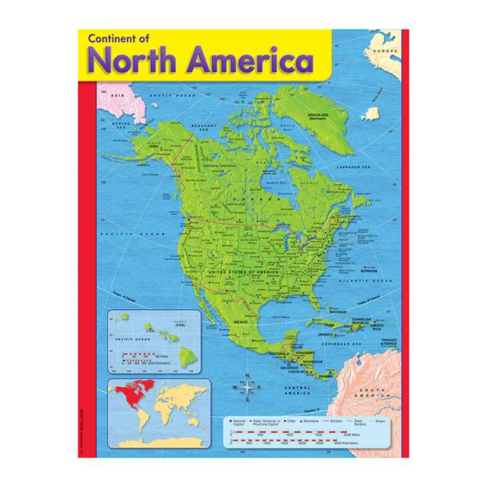 Chart Continent Of North America By Trend Enterprises
