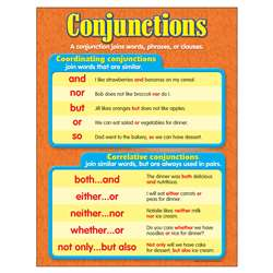 Chart Conjunctions Grades 3-6 By Trend Enterprises