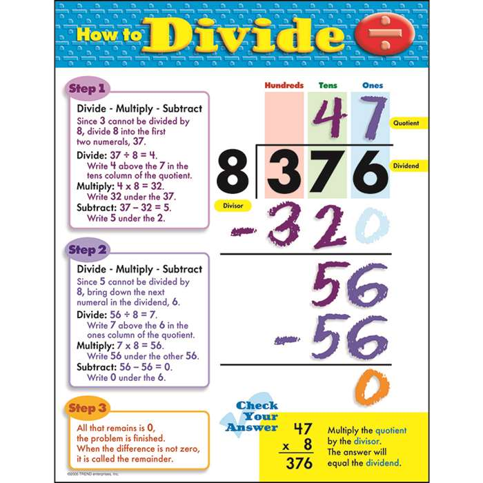 Chart How To Divide Grades 3-5 By Trend Enterprises