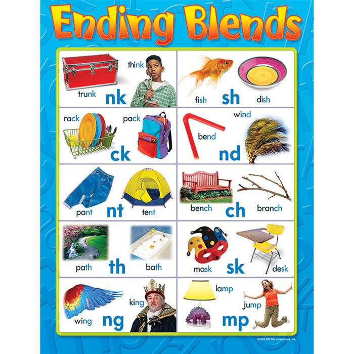 Learning Chart Ending Blends By Trend Enterprises