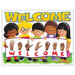 Chart Sign Language Welcome Trend Kids By Trend Enterprises