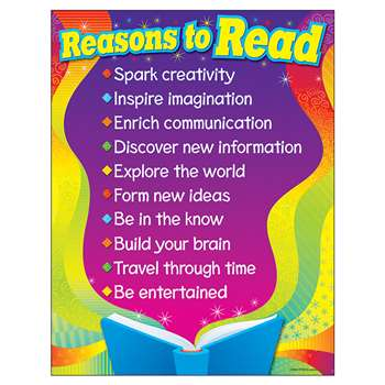 Learning Chart Reasons To Read By Trend Enterprises