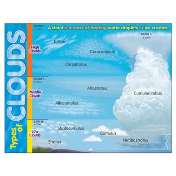 Learning Chart Types Of Clouds By Trend Enterprises