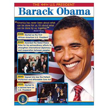 President Barack Obama Learning Chart By Trend Enterprises