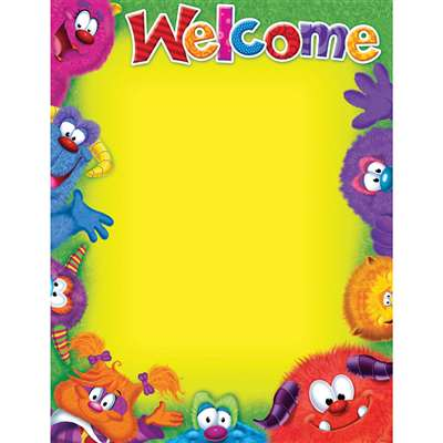 Welcome Blank Furry Friends Chart By Trend Enterprises