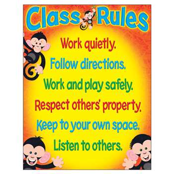 Class Rules Monkey Mischief Learning Chart By Trend Enterprises