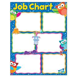 Job Chart Owl-Stars Learning Chart, T-38445