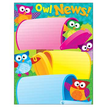 Owl News Learning Chart By Trend Enterprises