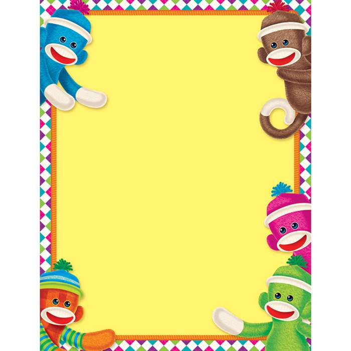Sock Monkey Learning Chart By Trend Enterprises