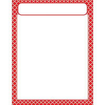 Moroccan Red Learning Chart, T-38600