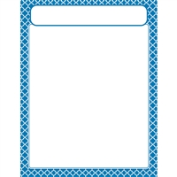 Moroccan Blue Learning Chart, T-38602