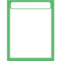 Moroccan Green Learning Chart, T-38603