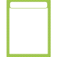 Polka Dots Lime Learning Chart, T-38617