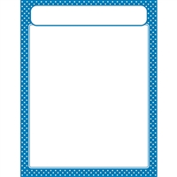 Polka Dots Blue Learning Chart, T-38618