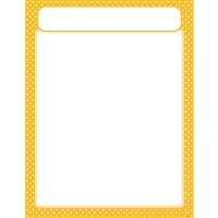 Polka Dots Yellow Learning Chart, T-38619