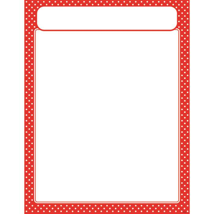 Polka Dots Red Learning Chart, T-38621