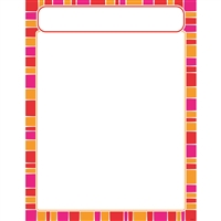 Stripe-Tacular Snazzy Red Learning Chart, T-38631
