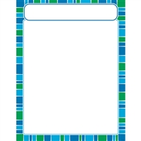 Stripe-Tacular Cool Blue Learning Chart, T-38635
