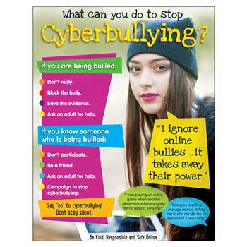 Cyberbullying Learning Chart Secondary, T-38643
