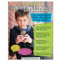 Online Safety Learning Chart Secondary, T-38646