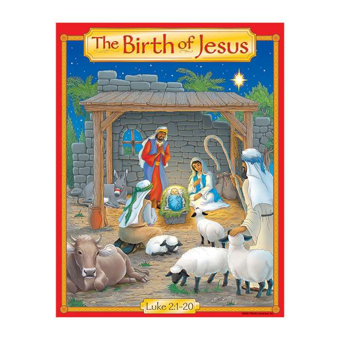 Learning Chart The Birth Of Jesus Story Chart By Trend Enterprises