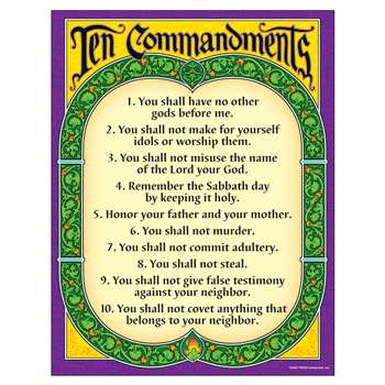 Learning Chart Ten Commandments By Trend Enterprises