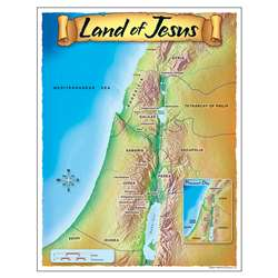 Learning Chart Land Of Jesus By Trend Enterprises