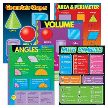 Geometry Learning Charts Combo Pack By Trend Enterprises