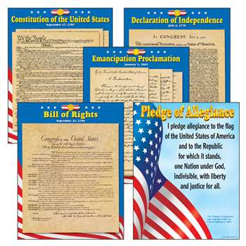 Us Documents Charts Combo Pack By Trend Enterprises