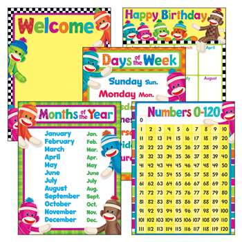 Sock Monkeys Charts Combo Pack By Trend Enterprises