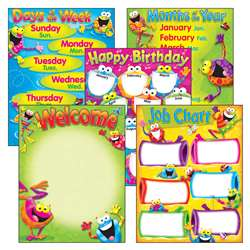 Classroom Basics Frog-Tastic Learning Chart Combo Pack By Trend Enterprises