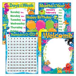 Classroom Basics Sea Buddies Learning Charts Combo, T-38976