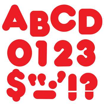 Ready Letters 4 Inch Casual Red By Trend Enterprises
