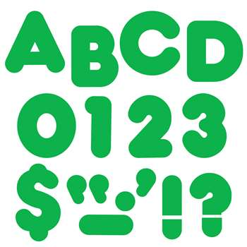 Ready Letters 4In Casual Green Spark By Trend Enterprises